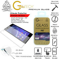 Twin Pack Gorilla Tempered Glass Screen Defender Film For Sony Xperia Z3 Compact