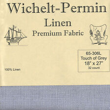 """Wichelt-Permin 32Ct Touch of Grey Linen Cross Stitch Fabric 18"""" x 27"""" #65-306L"""
