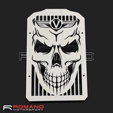 Chrome Radiator Cover Grille  Protector Skull For Kawasaki VN900 Vulcan 900 New