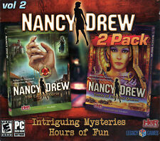 Nancy Drew THE CAPTIVE CURSE + TOMB OF THE LOST QUEEN PC Game 2 PACK NEW