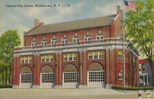Old Postcard - Central Fire House - Middletown NY