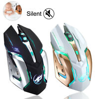 Rechargeable T1 Wireless Silent LED Backlit USB Optical Ergonomic Gaming Mouse