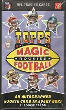 2011 Topps Magic Football Factory Sealed Hobby Box - 1 Rookie Autograph per Box