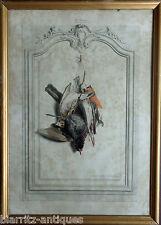 Lithographie d'Edouard TRAVIES - Le merle la bécassine l'alouette le bouvreuil