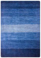 Alfombras de color principal azul para pasillos, 100% lana de gabbeh