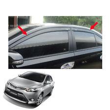 For Toyota Vios Yaris Belta 13 14 16 17 Visor Wind Deflector Weather Guard Black