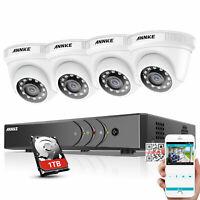 ANNKE 4CH DVR 1080P Video CCTV Security Camera System Outdoor Surveillance 1TB