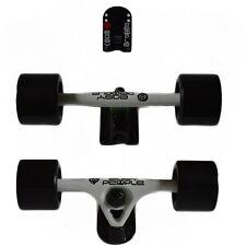 Easy People Longboards White Truck set Black wheels,Spacer,ABEC-7