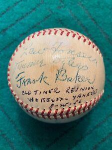 1910s-1950s NY Yankees Signed Baseball Black Sox Frank Baker HOF Dickie Kerr PSA