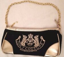Juicy Couture - Authentic Black and Gold handbag with Gold Chain Handle (NEW)