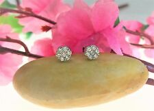 14kt White Gold Diamond .15ct Womens Stud Flower Earrings