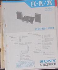 Sistema De Audio Sony EX-1K/2K Manual de taller de reparación de servicio (copia Original)