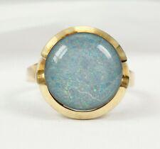 Ring in 585 Gold mit Opal Triplette
