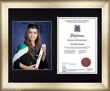 Clásico Plata Marco Pared A4 10x8 FOTO Certificado Diploma De Graduación