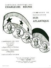 Publicité ancienne compagnie maritime des chargeurs réunis 1952 issue magazine
