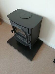 Stockton Small Electric Stove by GAZCO with solid black granite base