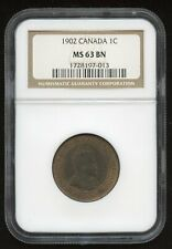 1902 Canada One Cent - NGC MS63 BN