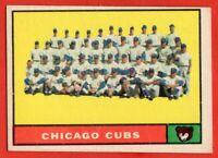 1961 Topps #122 Chicago Cubs Team VG-VGEX+ Ernie Banks Billy Williams Ashburn
