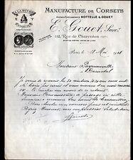 """PARIS (XII°) USINE de CORSETS / A LA RUCHE / ONDULINE """"NOTELLE & GOUET"""" en 1928"""