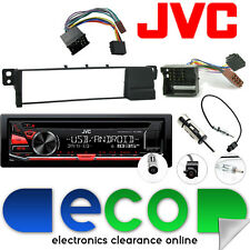 BMW 3 Series E46 1998-2006 JVC CD MP3 Tuner USB Aux iPod Car Stereo & Fascia Kit