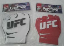 UFC fanfave 3D foam magnet with logo white and red fist