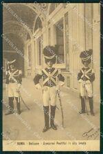 Militari Vaticano Gendarmi Pontifici cartolina XF0816