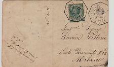 Cartolina 5 cent Leoni(81) Bastiglia->Milano 27.4.1911
