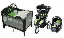 Baby Trend Stroller with Car Seat Playard Crib Infant Travel System Combo