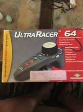 Nintendo 64 N64 Ultra Racer UltraRacer Steering Wheel Race Controller Brand New