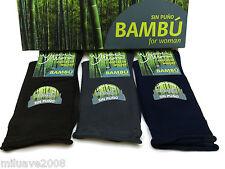 3 Pares calcetines socks finos hilo bambú sin puño no aprietan costura fina