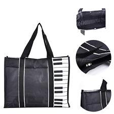 Fashion Women Black Piano Keys Music Handbag Tote Bag Waterproof Shopping Bag
