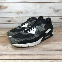 Nike Air Max 90 Ultra 2.0 Flyknit Shoes Mens Athletic 875943-001 Oreo Size 9.5