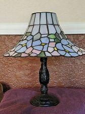 "Faux Tiffany Tea Light Lamp 14"""