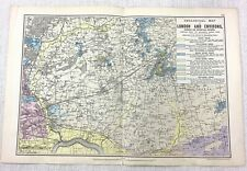 1900 Bacon's Map of London BARKING DAGENHAM CHIGWELL ESSEX ROMFORD RARE