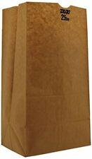 Duro ID# 18428 25# Short SOS Bag 40# 100% Recycled Natural Kraft 500pk