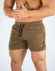 Men's Elastic Mesh Shorts Casual Breathable Gym Sports Training Fitness Trunks