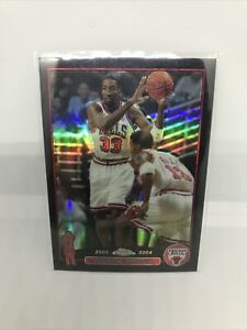 2003-2004 Topps Chrome BLACK REFRACTOR #/500 Scottie Pippen Chicago bulls