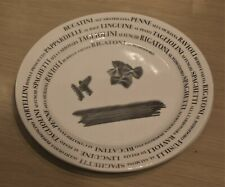 2 x Italian Black and White Script Pasta Plates