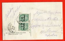 EGYPT - 1922 FRANCE ALEXANDRIE 2 mill.pair. Postcard (401-47-128)