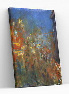 CLAUDE MONET LEICESTER SQUARE AT NIGHT CANVAS PICTURE PRINT WALL ART D167