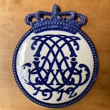 Antique Royal Copenhagen Commemorative Porcelain Plate #137 Coronation 1912