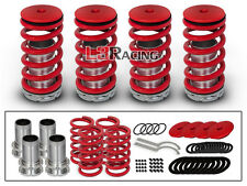 RED JDM COILOVER LOWERING COIL SPRINGS KIT FOR 95-04 Acura TL Sedan 4 Door