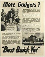 1940 Original Vintage Print Ad Best Buick Yet GM General Motors More Gadgets