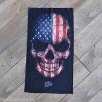 "cagoule Cache Cou protège "" Skull American Flag "" JI-5119  moto ski vélo biker"