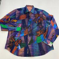 Robert Graham Limited Edition Button Up Shirt Men's 2XL Long Sleeve Floral