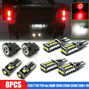 8x LED License Reverse Clearance Brake Lights For RAM 1500 2500 3500 2007-19