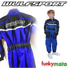 Trajes y monos de karting y racing color principal azul