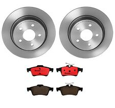 Rear Brembo Brake Kit Coated Disc Rotors and Ceramic Pads For Ford C-Max Escape