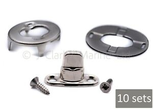 10 x Turnbutton 8mm kit & screws DOT fastener boat canopy cover turnbuckle stud