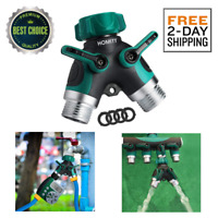 "Garden Hose Splitter 2 Way Y Connector Comfortable Rubberized Grip 3/4"" US NEW"